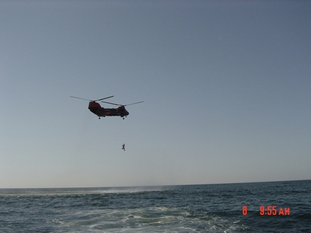 Helo Hoisting Operation